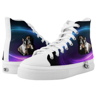 Boxer and Boston Terrier Hi-tops