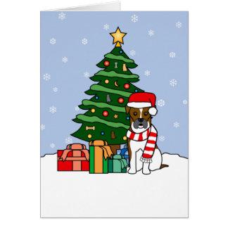Boxer and Christmas Tree Card