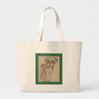 Boxer art drawn from only the words canvas bag
