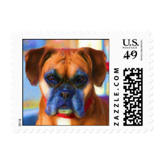Boxer art small stamps
