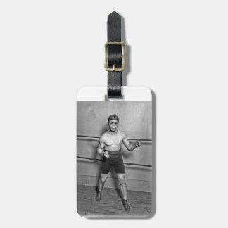 Boxer Auguste Grassi (1920) Bag Tag