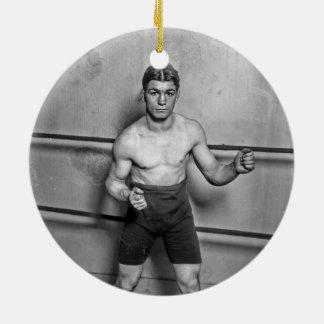 Boxer Auguste Grassi (1920) Ceramic Ornament