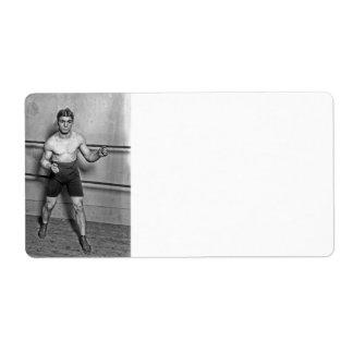 Boxer Auguste Grassi (1920) Label