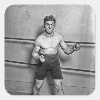 Boxer Auguste Grassi (1920) Square Sticker