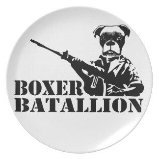 Boxer Batallion Dinner Plate