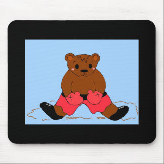 Boxer Bear in Red Mouse Pad