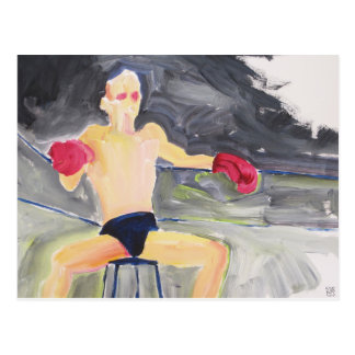 Boxer Between Bouts postcard