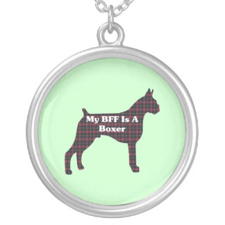 Boxer BFF Round Pendant Necklace