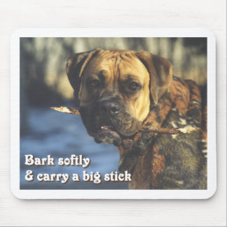 Boxer:  Big Stick Mouse Pad