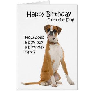 Boxer Birthday Card