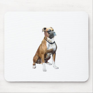 Boxer - black mask, natural ears (#2) mouse pad