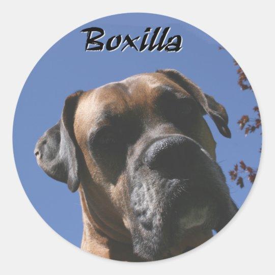 Boxer:  Boxilla Classic Round Sticker
