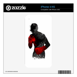 Boxer/Boxing art Decals For iPhone 4S