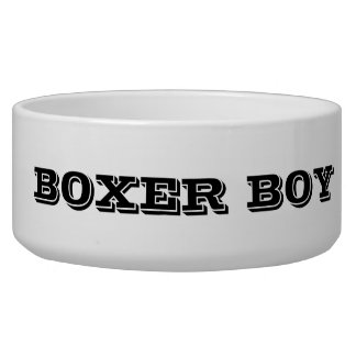 BOXER BOY FOOD BOWL PET WATER BOWL