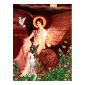 Boxer (br5) - Seated Angel Postcard