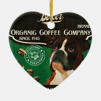 Boxer Brand – Organic Coffee Company Double-Sided Heart Ceramic Christmas Ornament