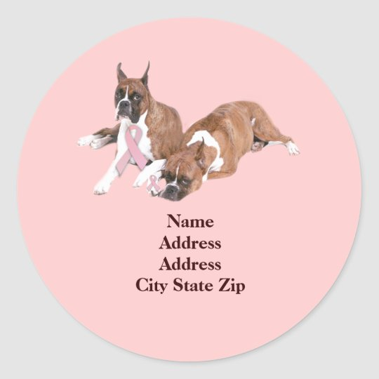Boxer Breast Cancer Address Label