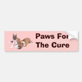 Boxer Breast Cancer Bumper Sticker