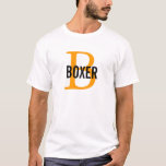 Boxer Breed Monogram Design T-Shirt