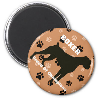 Boxer Breed of Champions Dog Refrigerator Magnet