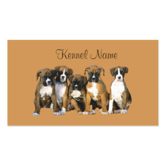 Boxer Breeder Business Card