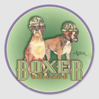 Boxer Brigade Classic Round Sticker