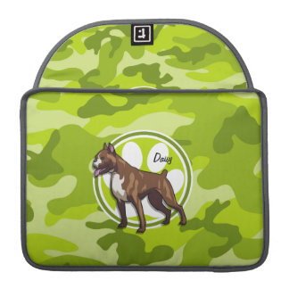 Boxer; bright green camo, camouflage sleeve for MacBook pro
