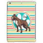 Boxer; Bright Rainbow Stripes iPad Air Covers