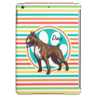 Boxer; Bright Rainbow Stripes Case For iPad Air