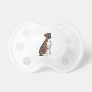 Boxer - brindle (natural ears) pacifiers