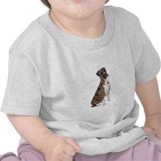Boxer - brindle (natural ears) t-shirts