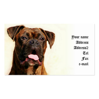Boxer business cards