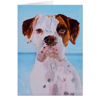 Boxer by the Sea Greeting Card