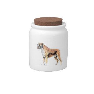 Boxer Candy Jar