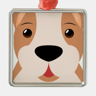 Boxer Cartoon Metal Ornament
