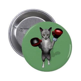 Boxer Cat 2 Inch Round Button
