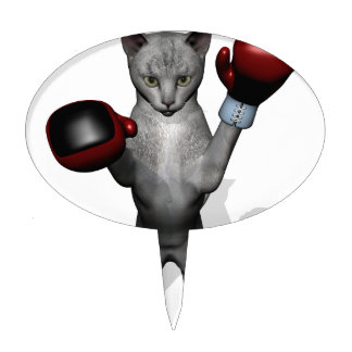 Boxer Cat Cake Topper