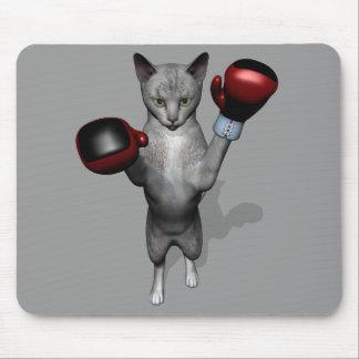 Boxer Cat Mouse Pad