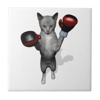 Boxer Cat Tile