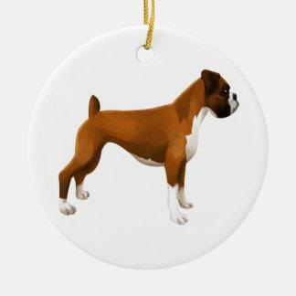 Boxer Ceramic Ornament