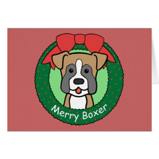 Boxer Christmas Greeting Cards