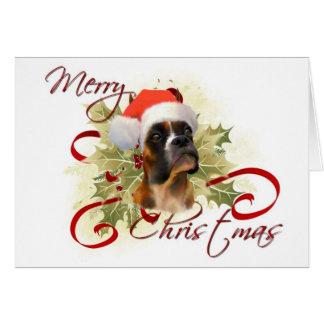 Boxer Christmas Card