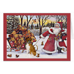 Boxer Christmas Card Santa Bears