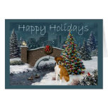 Boxer Christmas Evening Greeting Card
