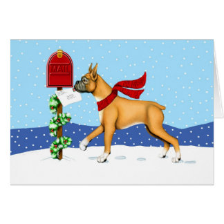 Boxer Christmas Mail Greeting Cards