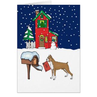 Boxer Christmas Mail Card