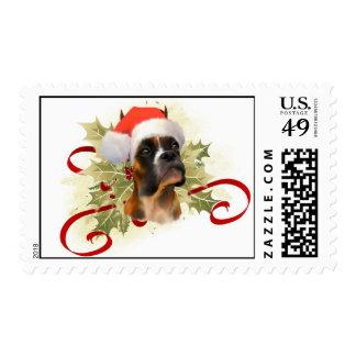 Boxer Christmas Stamps