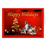 Boxer Christmas Stars Greeting Card