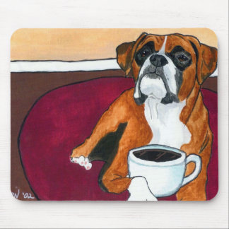 Boxer Coffee Fawn Mouse Pad
