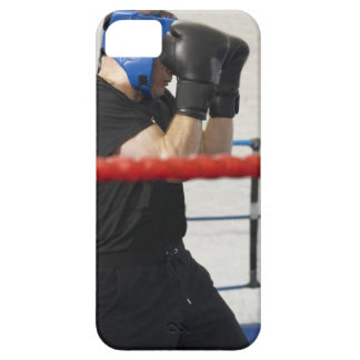 Boxer covering his face in ring iPhone 5 covers